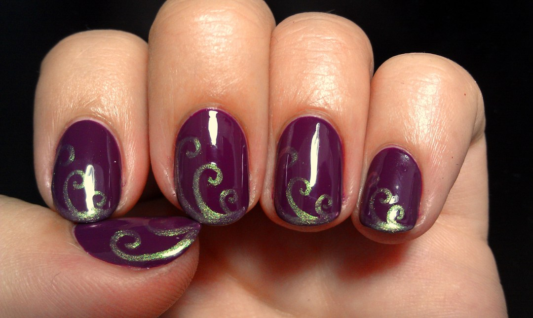 Purple Swirls Zoya Nail Art
